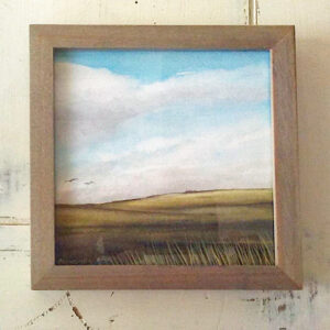 Passing clouds miniature painting