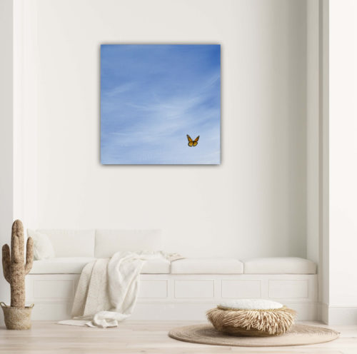 summer glee butterfly giclee print by Emmeline Craig