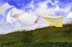 Laundry in the Wind Giclee Print | Emmeline Craig